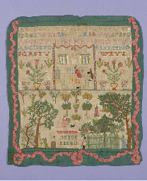 A fine sampler, worked in colo