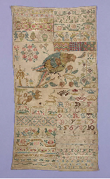 A sampler worked with initials