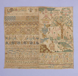 A sampler worked in coloured s