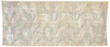 A panel of sea-green silk, pri