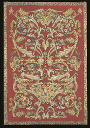 A re-applied beadwork panel, a