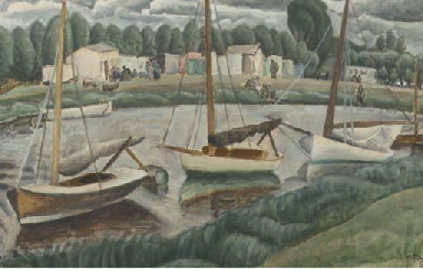 Sailing boats in a canal
