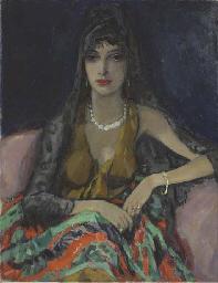 Elegant Lady in Spanish dress