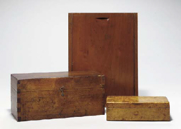 THREE WOODEN BOXES OF VARIOUS