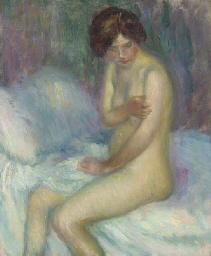 Nude Sitting on a Bed
