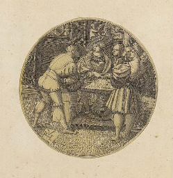 Men playing a game of Dice (B.