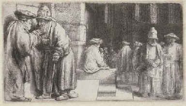 Jews in a Synagogue (B., Holl.
