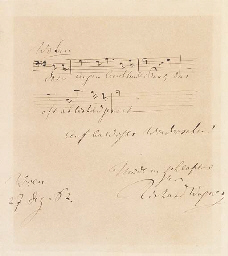 WAGNER, Richard (1813-1883). A