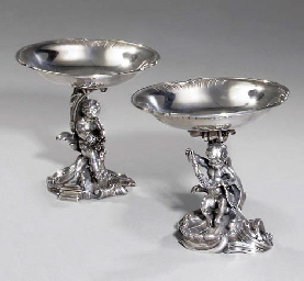 Two silver tazzas