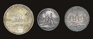 Three Russian medals