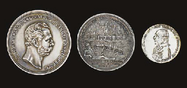 Three Russian medals