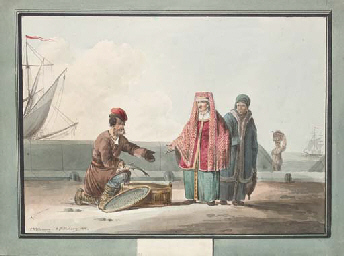 A Russian peasant selling fish