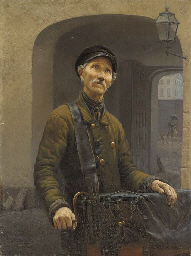 Portrait of a street musician