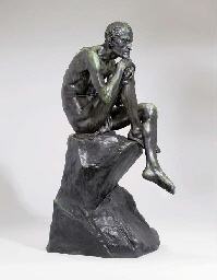 A bronze figure of Mephistophe