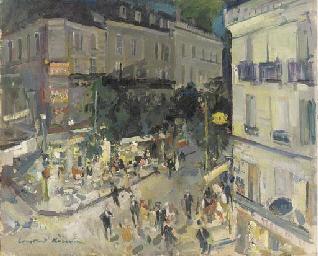 View of a Parisian street corn