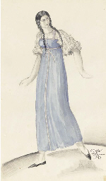 Costume design for 'In 1825'