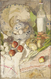 Still-life with fruit, vegetab