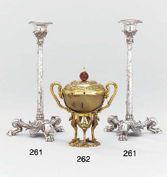 Two Victorian silver candlesticks