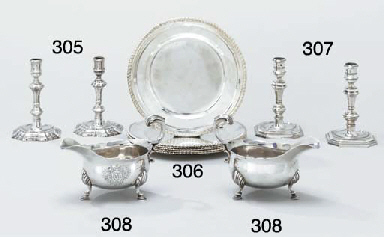 A set of six George III silver