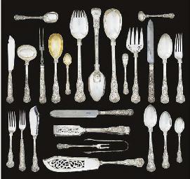 An Edward VII silver table-ser