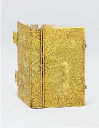 A German silver-gilt book-cove