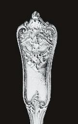 Twenty-one German silver table