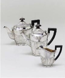 A German silver coffee-pot, te