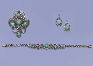 A GROUP OF ANTIQUE TURQUOISE A