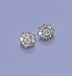 A PAIR OF FINE ANTIQUE DIAMOND