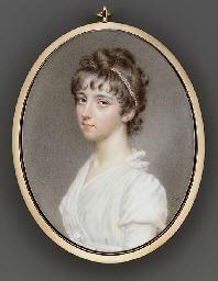 A fine miniature of Miss Twini
