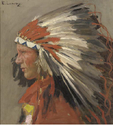 Profile of an Indian Chief wit