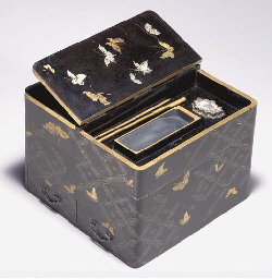 A Stacking Lacquer Writing Box