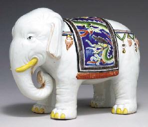 A Porcelain Model of an Elepha