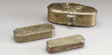 A GROUP OF CONTINENTAL BRASS A