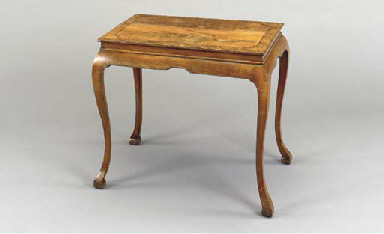 A GEORGE I WALNUT CENTER TABLE