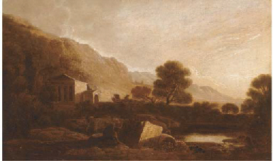 A temple in an Italianate land
