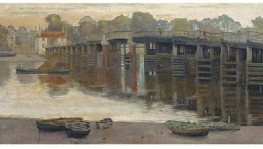 The old toll bridge, Putney