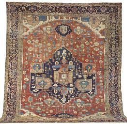 An antique Serapi carpet, Nort