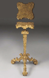 A GILTWOOD AND GESSO CANDLESTA
