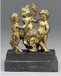 A Continental gilt bronze figu