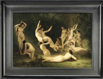 A painted porcelain panel 'The