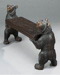 A 'Black Forest' bench of smal