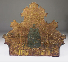 A SPANISH PARCEL GILT AND CHIN