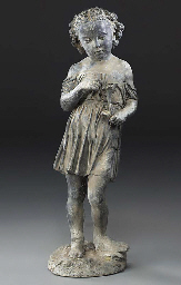 A Victorian lead figure of a c