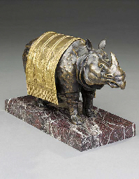 A gilt and bronze model of a R