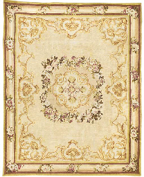 AN AUBUSSON CARPET OF SMALL SI