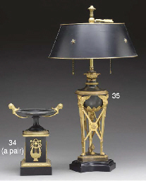 A PAIR OF EMPIRE STYLE ORMOLU