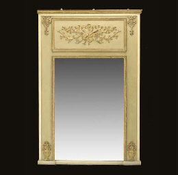 A BEIGE, CREAM AND PARCEL-GILT