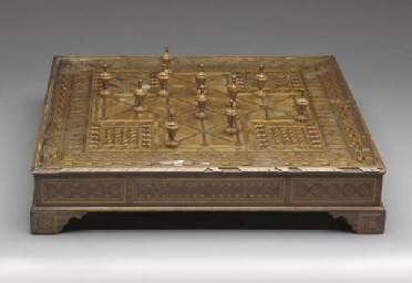 AN ITALIAN MARQUETRY GAMEBOARD