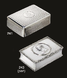 TWO GEORGE IV SILVER SNUFF-BOXES